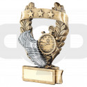 Bronze & Pewter Athletics 3 Star Wreath Award Trophy