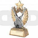 Squash Wreath Shield With Gold Star Trophy