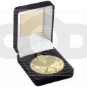 Black Velvet Box And 50Mm Medal Squash Trophy - Gold