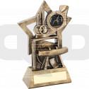 Gymnastics On Star Backdrop Trophy