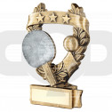 Bronze & Pewter Table Tennis 3 Star Wreath Award Trophy