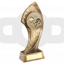 Bronze Twisted Leaf With Table Tennis Insert Trophy