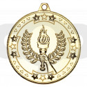 50mm Victory Torch 'Tri Star' Medal