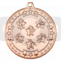 50mm Multi Athletics 'Tri Star' Medal