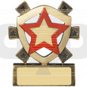 Red Star Mini Shield Award