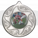 50mm American Football Silver Medal